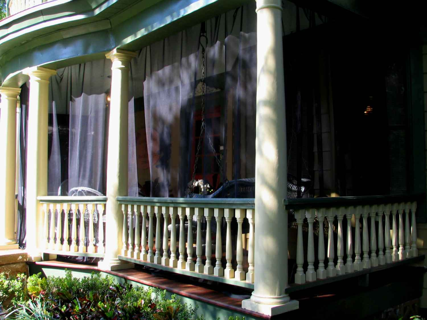 Mosquito Curtains For Patio White Screened Porch