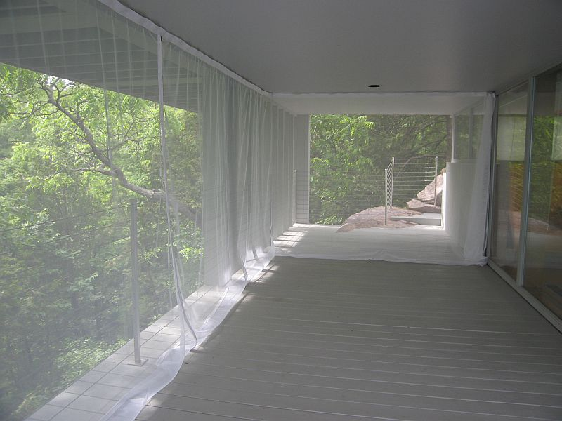 Mosquito netting curtains and no-see-um netting curtains